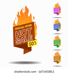 hot sale banner vector collection in flat design template for your product boost sales. inscrease your sales with this premium template
