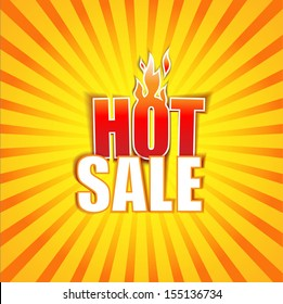 Hot Sale banner. Vector Illustration