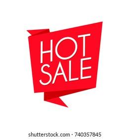 Hot sale banner vector illustration