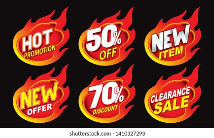 Hot sale promotion label tag illustration design