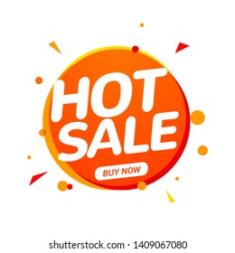 Hot Sale speech bubble banner promo sign. Discount tag design template. Business sale label vector promo offer.