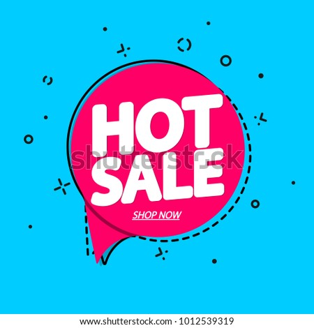 Hot Sale Speech Bubble Banner Discount Stock Vector (Royalty