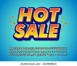 Hot sale sticker font effect, hot sale banner,