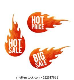 Hot sale symbols. Labels, stickers, symbols and design elements vector