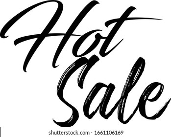 Hot sale Typographic Black Color Font on White Background
