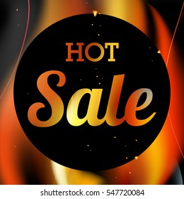 Hot Sale vector with fire flames background