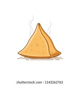 hot samosa vector illustration