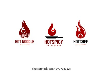 Hot Spicy Food Restaurant Logo Vector Template suitable for food and beverage business company