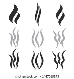 Hot steam vector shapes. Smoking vector icon