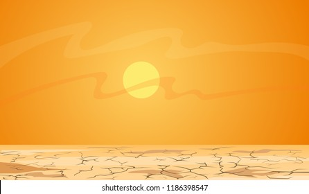 Hot summer day: Desert landscape