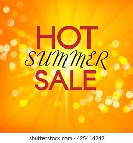 Hot Summer Sale. Vector summer background.