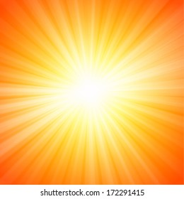 Hot sun lights, abstract summer background