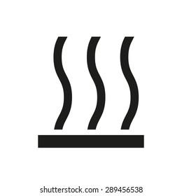 The hot surface icon. Hotly symbol. Flat Vector illustration