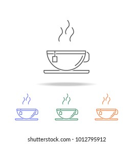 Hot tea icon. Element of kitchen accessories multi colored icons for mobile concept and web apps. Thin line icon for website design and development. Premium icon on white background