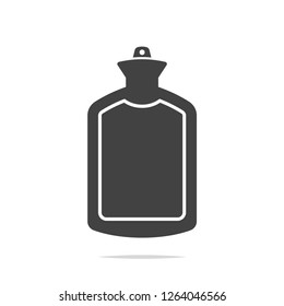 Hot water bag icon vector