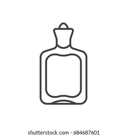 Hot water bottle line icon.