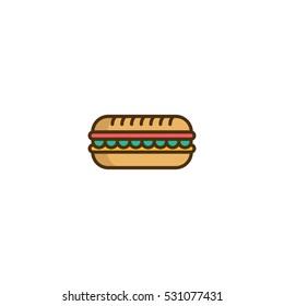Hotdog Burger Vector Logo Design Element