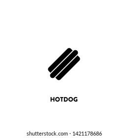 hotdog icon vector. hotdog sign on white background. hotdog icon for web and app