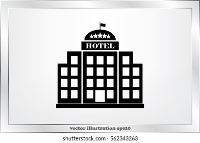 Hotel 5 star icon vector illustration eps10.