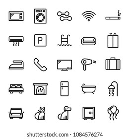 Hotel Amenities - 25 icons pack