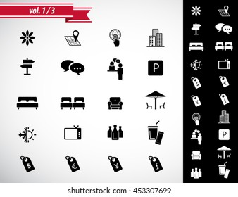 Hotel Amenities Icon set 1 out of 3