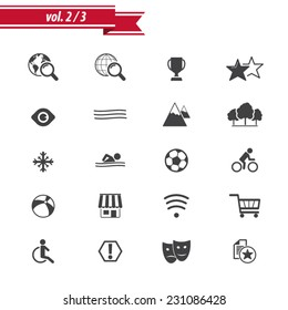 Hotel Amenities Icon set 2 out of 3