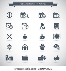 Hotel Amenities Icon set 3 out of 3