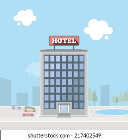 Hotel building. EPS10.