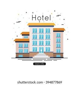 Hotel building icon. Vector eps 10 format.