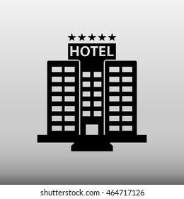 Hotel Building Vector Icon Illustration
