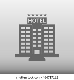 Hotel Building Vector Icon Illustration Stock Vector 464717126