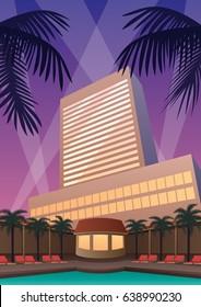 Hotel and casino resort in Art Deco style.