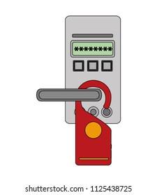 hotel door eletronic panel do not disturb tag