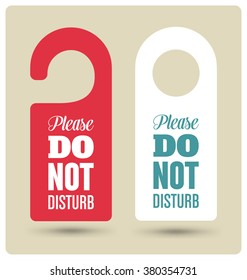 Hotel Door Hanger Tags, Messages -  Please Do Not Disturb Sign