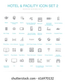 Hotel and Facilities icon set 2