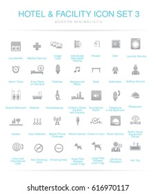 Hotel and Facilities icon set 3