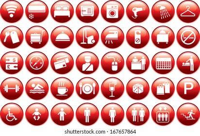Hotel facilities icon in vector format