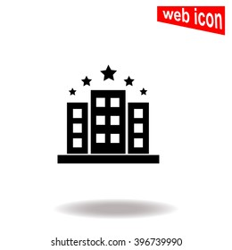 Hotel five stars. Universal icon to use in web and mobile UI