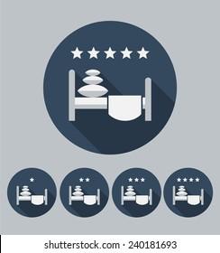 Hotel icon. Flat design. Vector.