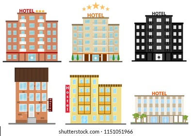 Hotel, hotel icon, hostel. Flat design, vector illustration, vector.