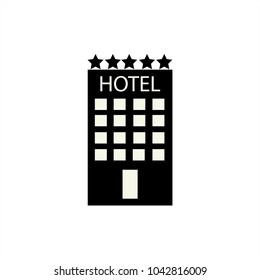 Hotel icon isolated on white background. A simple flat icon for business, marketing, Internet concepts.Vector