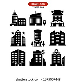 hotel icon or logo isolated sign symbol vector illustration - Collection of high quality black style vector icons