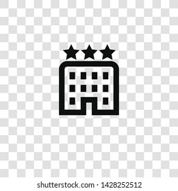 hotel icon from miscellaneous collection for mobile concept and web apps icon. Transparent outline, thin line hotel icon for website design and mobile, app development