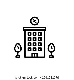 Hotel Icon Outline Vector. Holiday Sale Icons. Online Shop Ikon.