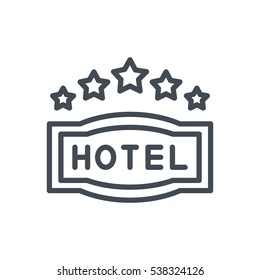 Hotel Icon Pack 5 Star Sign