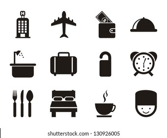 hotel icons over white background. vector illustration