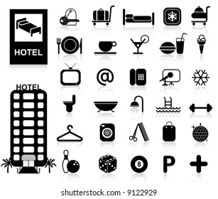Hotel Icons set - Vector. Easy change colors.