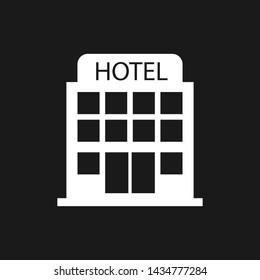 Hotel ison. Minimalistic simple vector illustration. Travel overnight stop.