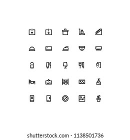 Hotel outline icon set for websites, mobile interfaces and apps