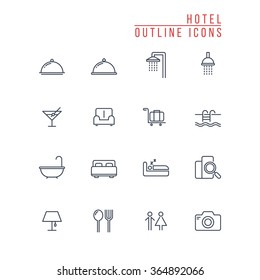 Hotel Outline Icons